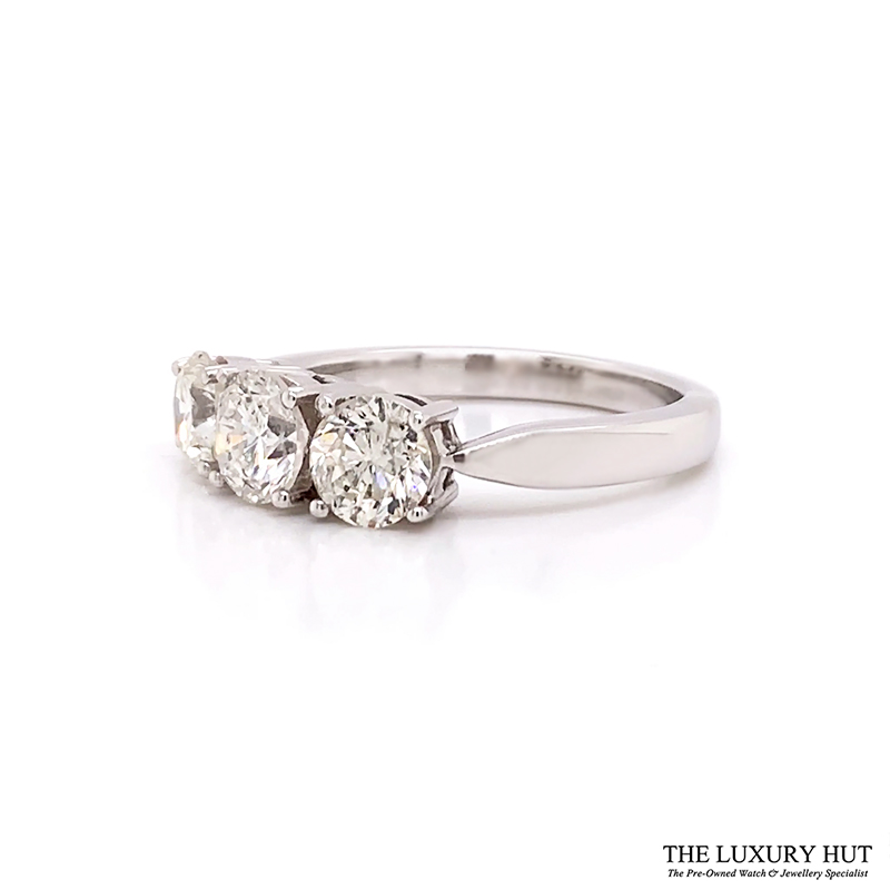 Shop Platinum 1.77ct Diamond Trilogy Ring - Order Online Today For Next Day