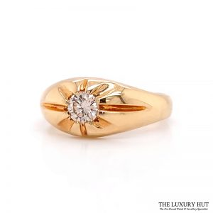 Shop 9ct Yellow Gold Diamond Gents Rings - Order Online Today For Next Day
