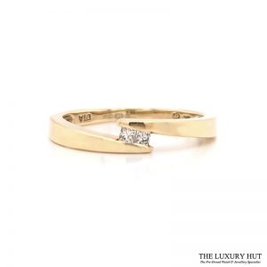 Shop 9ct Yellow Gold Diamond Crossover Ring - Order Online Today for Next Day Delivery