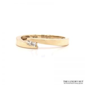 Shop 9ct Yellow Gold Diamond Crossover Ring - Order Online Today for Next Day