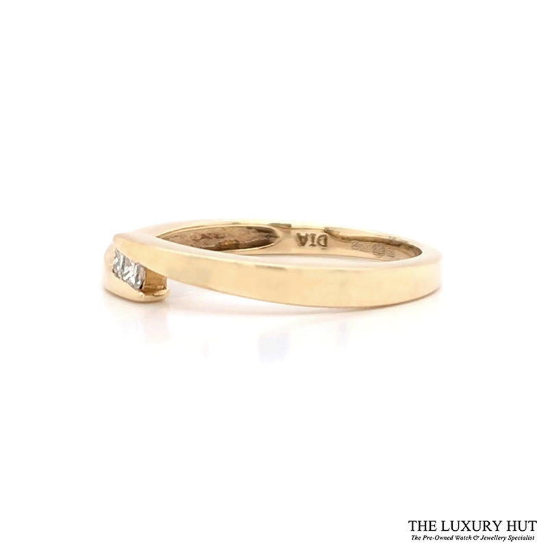 Shop 9ct Yellow Gold Diamond Crossover Ring - Order Online