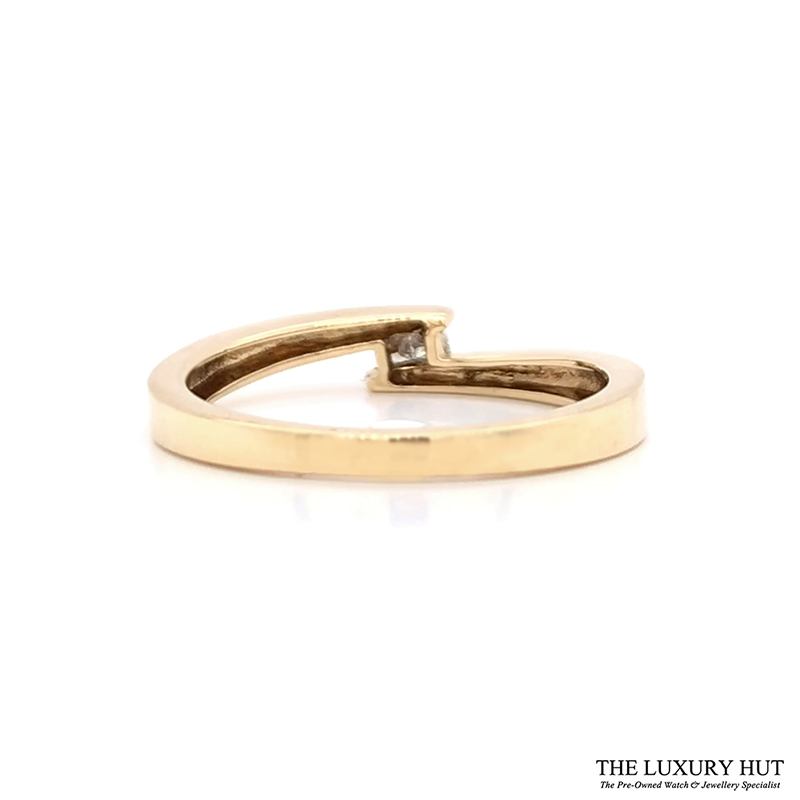 Shop 9ct Yellow Gold Diamond Crossover Ring - Order