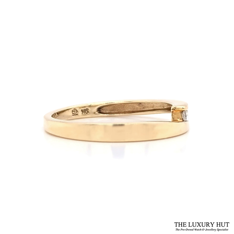 Shop 9ct Yellow Gold Diamond Crossover Ring