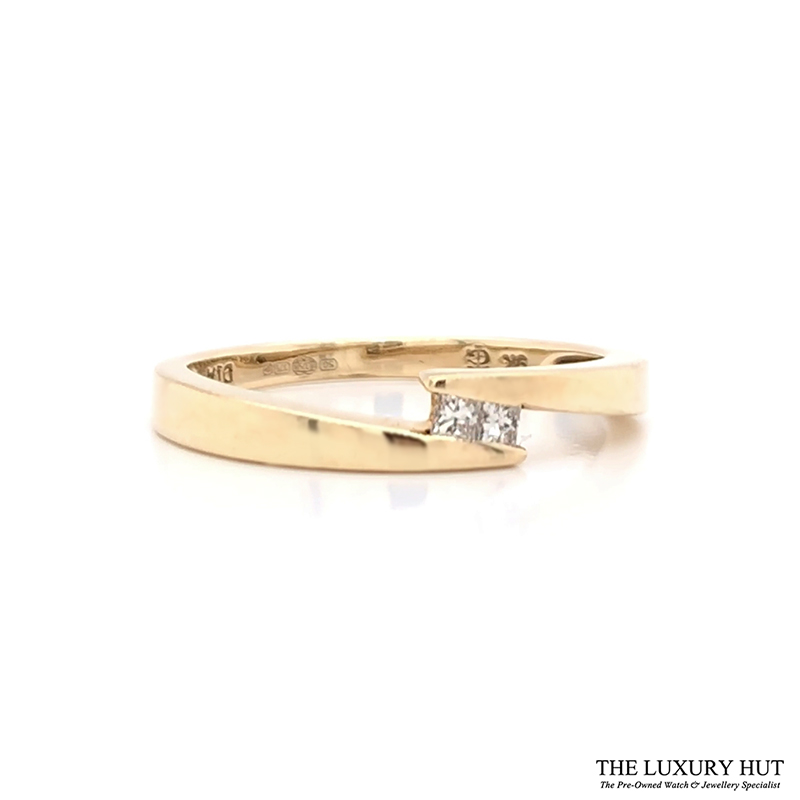 Shop 9ct Yellow Gold Diamond Crossover Ring - Order Online Today Delivery