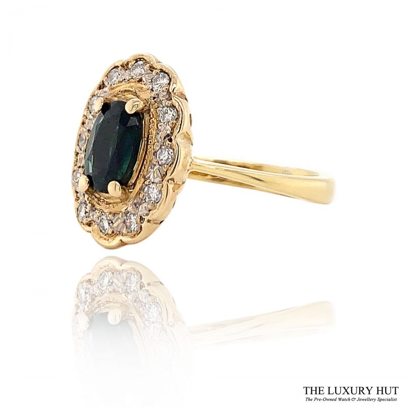 Shop Diamond And Sapphire Ring- Order Online