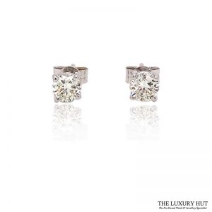 18CT White Gold .70CT Diamond Earrings - Order Online Today For Next Day Delivery