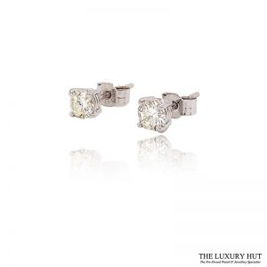18CT White Gold .70CT Diamond Earrings - Order Online Today For Next Day