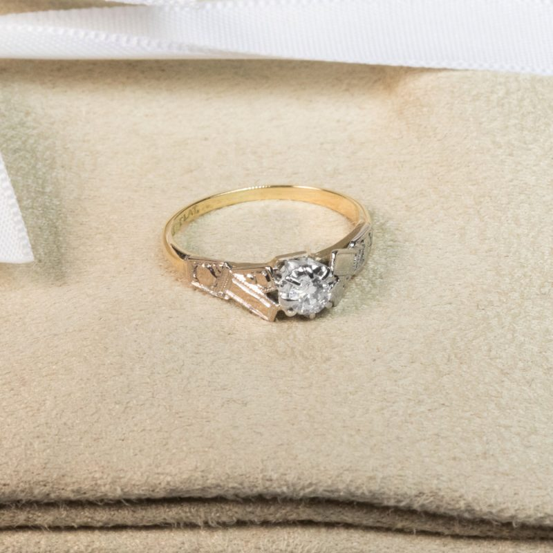 18CT Gold & Platinum Diamond Engagement Ring - Order Online Today for Next Day Delivery