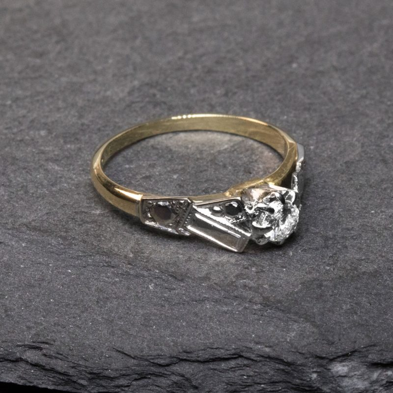 18CT Gold & Platinum Diamond Engagement Ring - Order Online Today