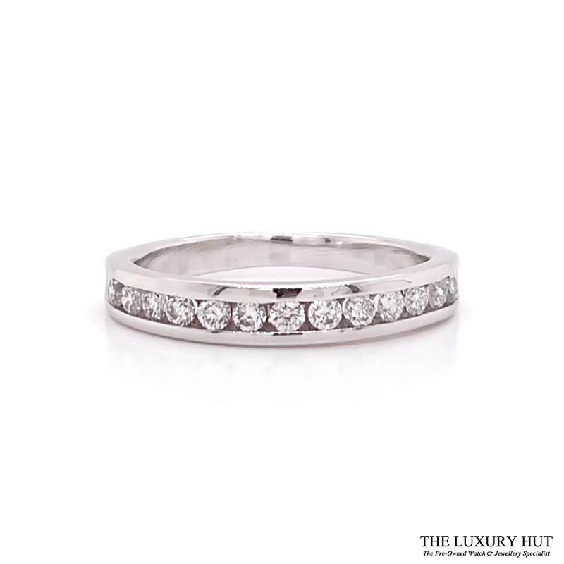 Shop 18CT Gold Half Eternity Diamond Ring - Order Online Today for Next Day Delivery - Sell Your Jewellery to the Luxury Hut London