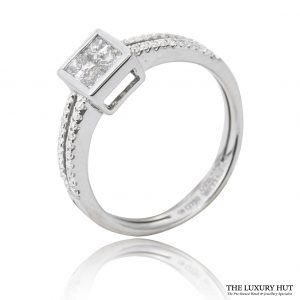 Shop 18ct Gold Princess Cut Diamond Ring - Order Online Today For Next Day