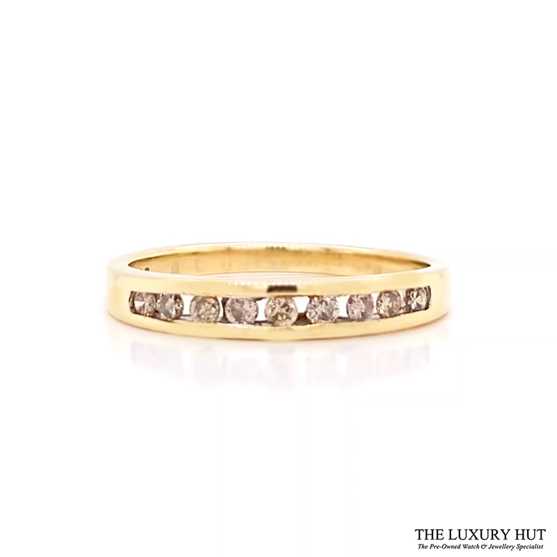 Shop Pre-Owned 9ct Gold Diamond Half Eternity Ring - Order Online Today For Next Day Delivery