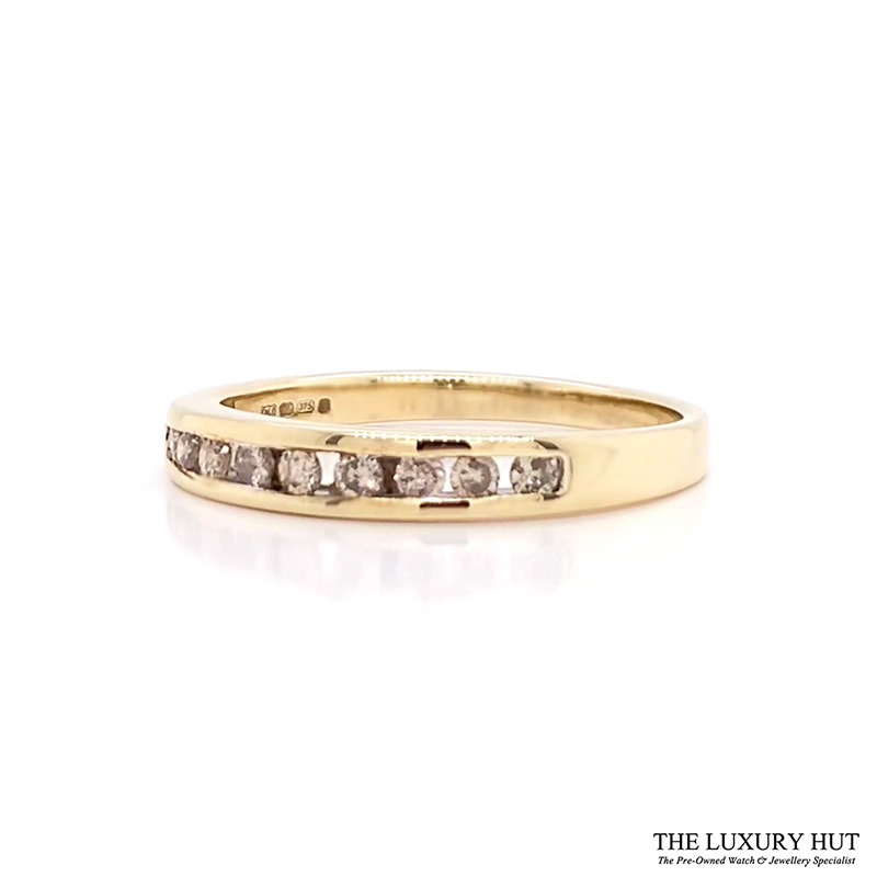 Shop Pre-Owned 9ct Gold Diamond Half Eternity Ring - Order Online Today For Next Day