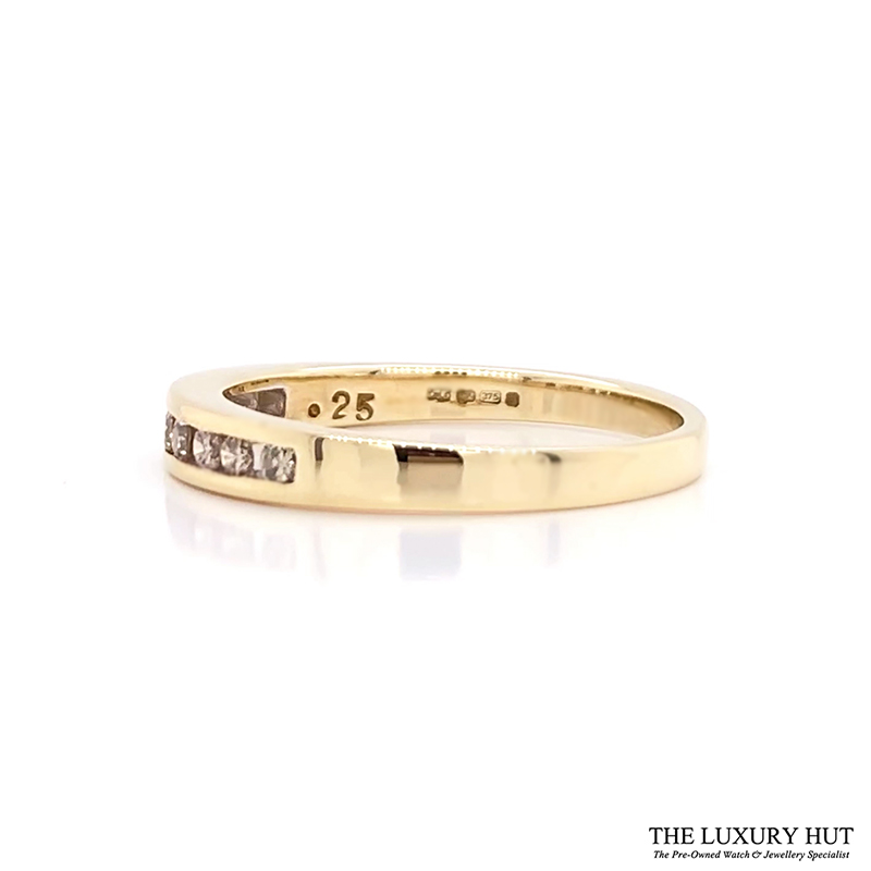 Shop Pre-Owned 9ct Gold Diamond Half Eternity Ring - Order