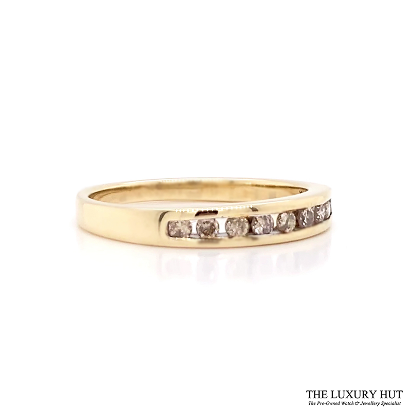 Shop Pre-Owned 9ct Gold Diamond Half Eternity Ring