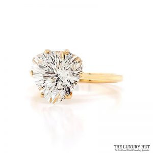9ct Yellow Gold Heart Shape Cubic Zirconia Ring - Order Online Today For Next Day