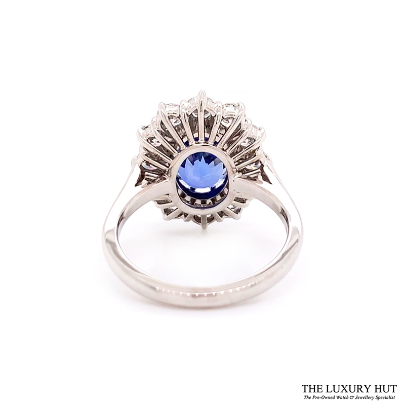18ct White Gold 4.48ct Sapphire Engagement Ring Order Online Today