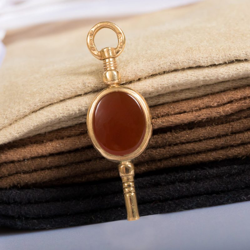 Shop 9ct Yellow Gold Cornelian & Bloodstone Key Charm / Pendant - Order Online Today For Next Day Delivery - Sell Your Jewellery