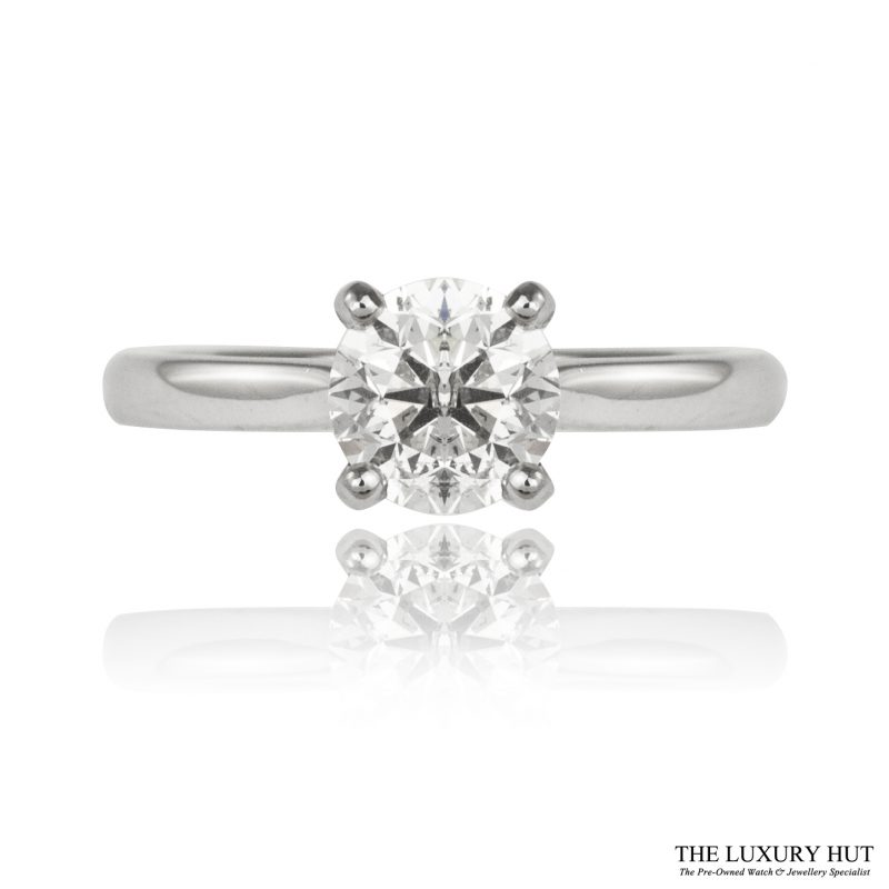 Shop Pre-Owned 18ct White Gold Diamond Ring - Order Online Today for Next Day Delivery - Sell Your Old Diamond Ring to the Luxury Hut London