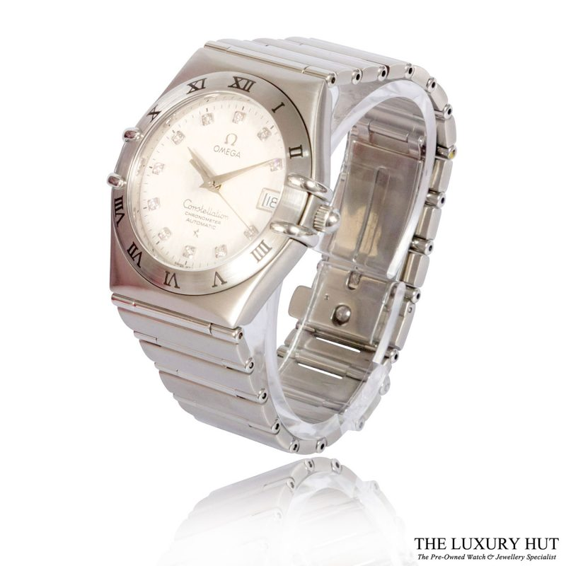 Omega Constellation Diamond Set Watch Ref: 1504.35.00 - Order Online Today For Next Day Delivery - Sell Your Omega Watch To The Luxury Hut
