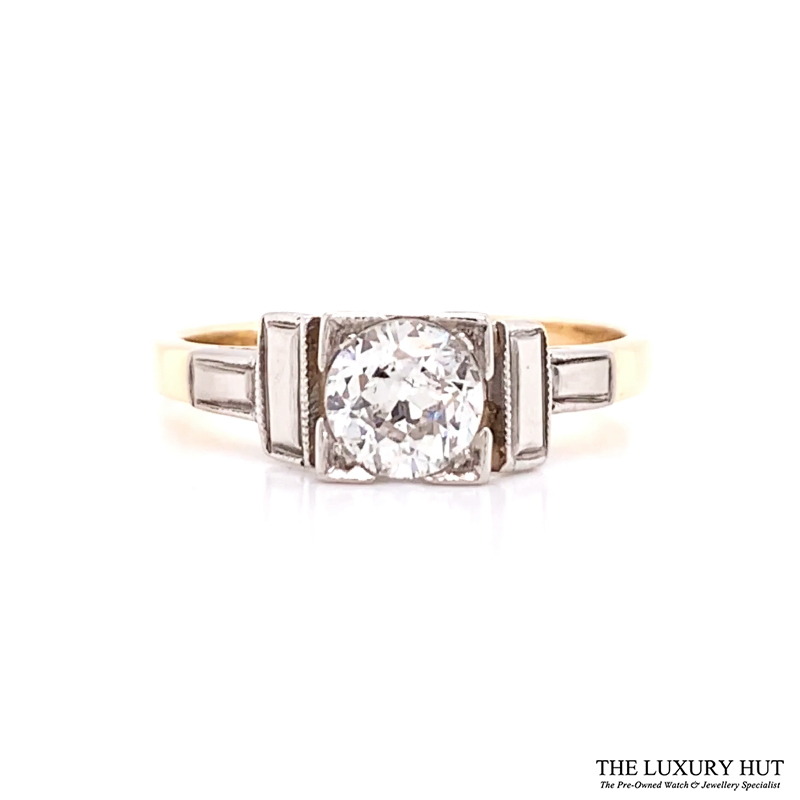 Shop 18ct Yellow Gold & Platinum 0.50ct Certified Diamond Solitaire Ring - Order Online Today For Next Day Delivery - Sell Your Diamond Jewellery To The Luxury Hut Hatton Garden