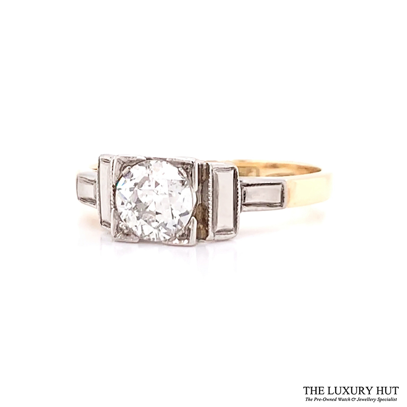 Shop 18ct Yellow Gold & Platinum 0.50ct Certified Diamond Solitaire Ring - Order Online Today For Next Day Delivery - Sell Your Diamond Jewellery To The Luxury Hut