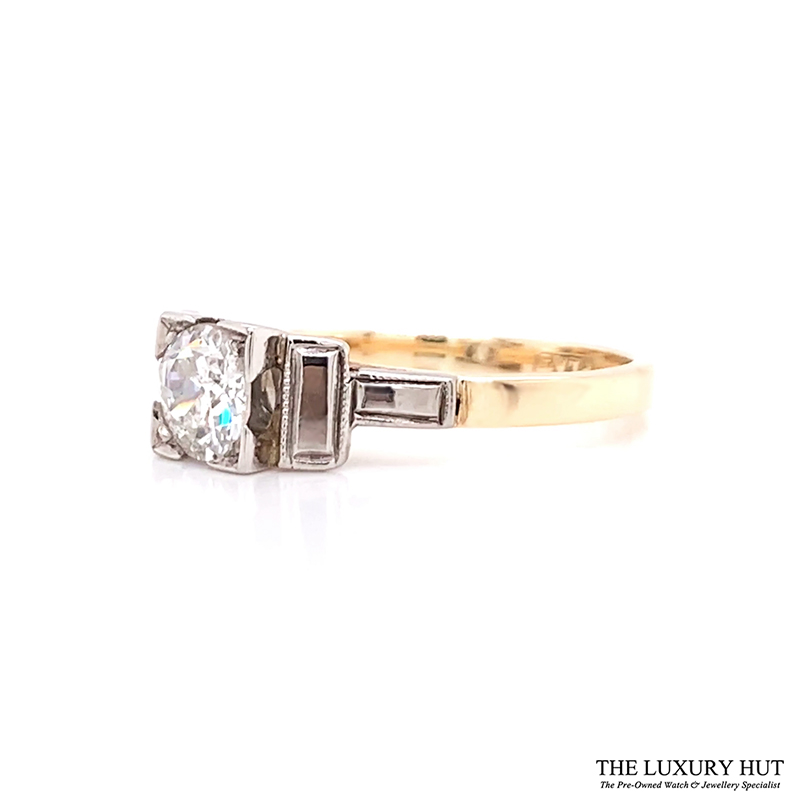 Shop 18ct Yellow Gold & Platinum 0.50ct Certified Diamond Solitaire Ring - Order Online Today For Next Day Delivery - Sell