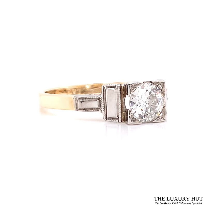 Shop 18ct Yellow Gold & Platinum 0.50ct Certified Diamond Solitaire Ring - Order Online Today For Next Day Delivery