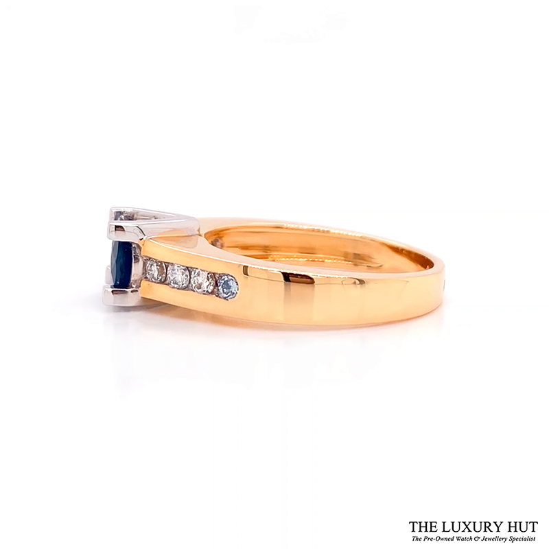 op 18ct Yellow & White Gold Sapphire & Diamond Ring - Order Online Today For Next Day Delivery - Sell