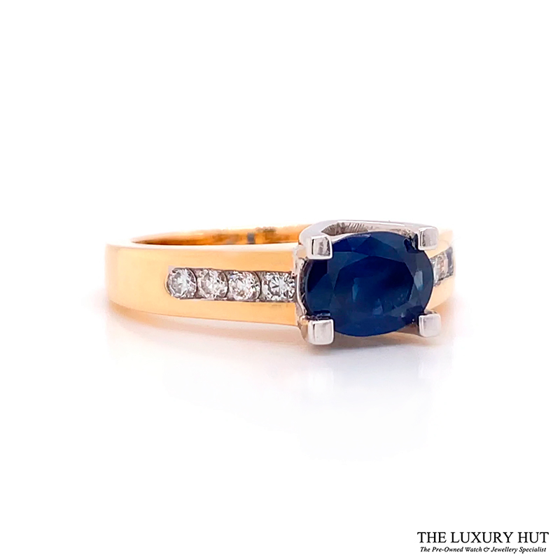 op 18ct Yellow & White Gold Sapphire & Diamond Ring - Order Online Today