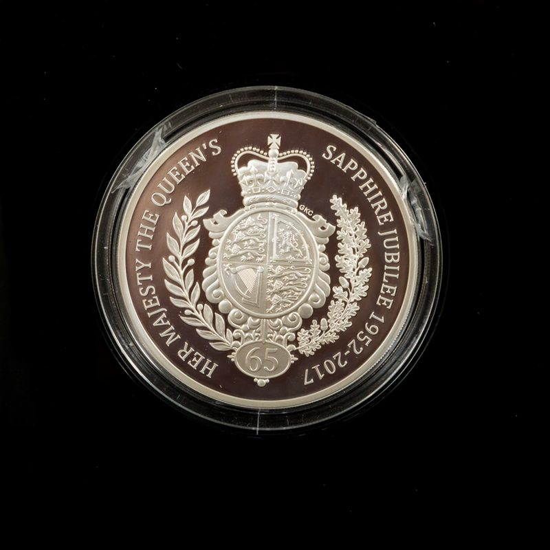 Shop 2017 Royal Mint Queen's Sapphire Jubilee £10 Silver Proof Coin - Order Online Today For Next Day Delivery - Sell Your Gold And Silver Coins