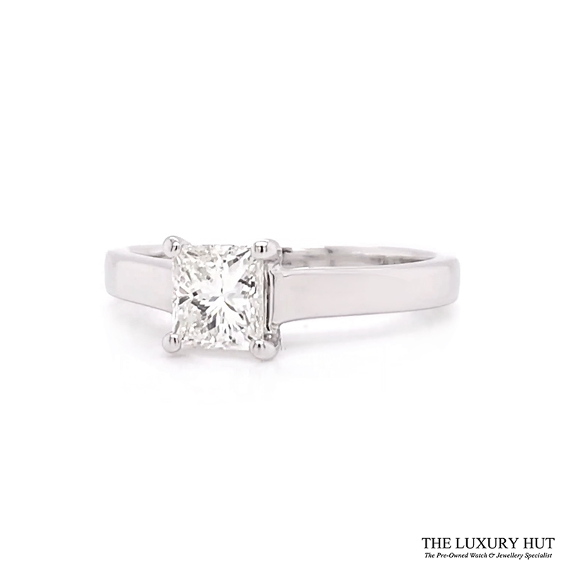 18ct White Gold 0.62ct Certified Diamond Solitaire Ring - Order Online Today For Next Day Delivery - Sell Your Diamond Jewellery To The Luxury Hut