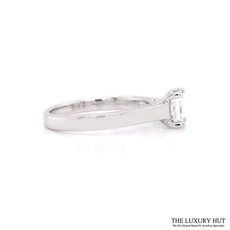18ct White Gold 0.62ct Certified Diamond Solitaire Ring - Order Online