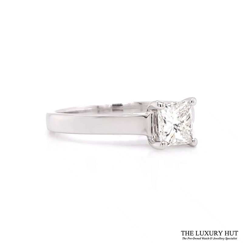 18ct White Gold 0.62ct Certified Diamond Solitaire Ring - Order Today