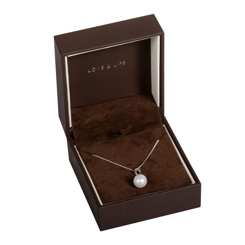 Shop 9ct White Gold Cultured Pearl & Diamond Pendant - Order Online Today For Next Day Delivery - Sell Your Diamond Jewellery