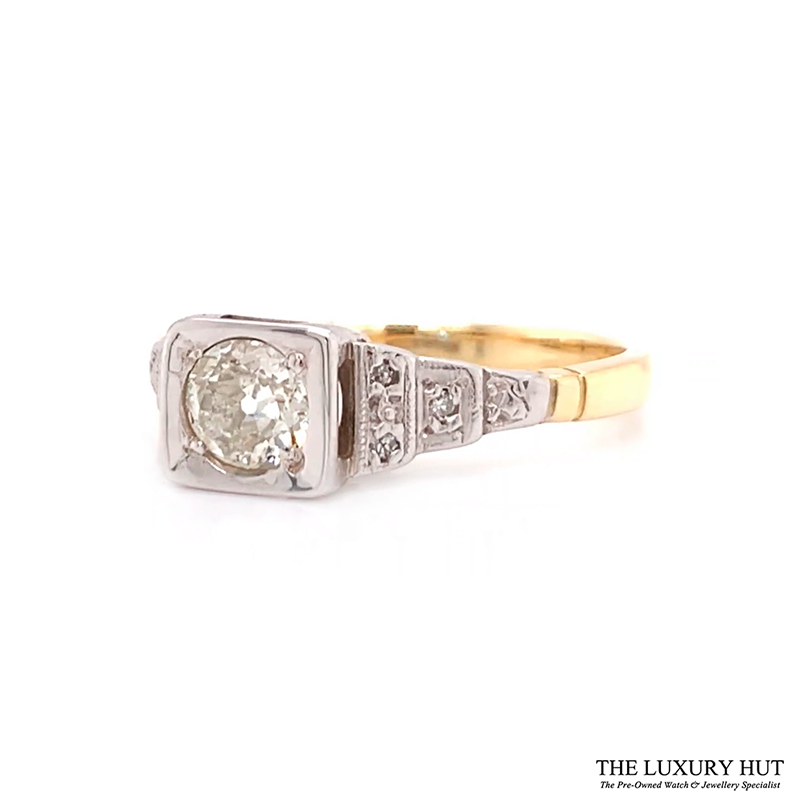 Shop 18ct White & Yellow Gold 0.53ct Diamond Engagement Ring - Order Online Today For Next Day Delivery - Sell Your Diamond Jewellery To The Luxury Hut