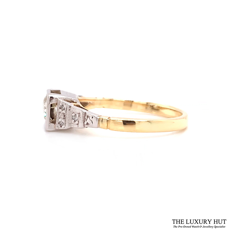 Shop 18ct White & Yellow Gold 0.53ct Diamond Engagement Ring - Order Online Today For Next Day Delivery - Sell