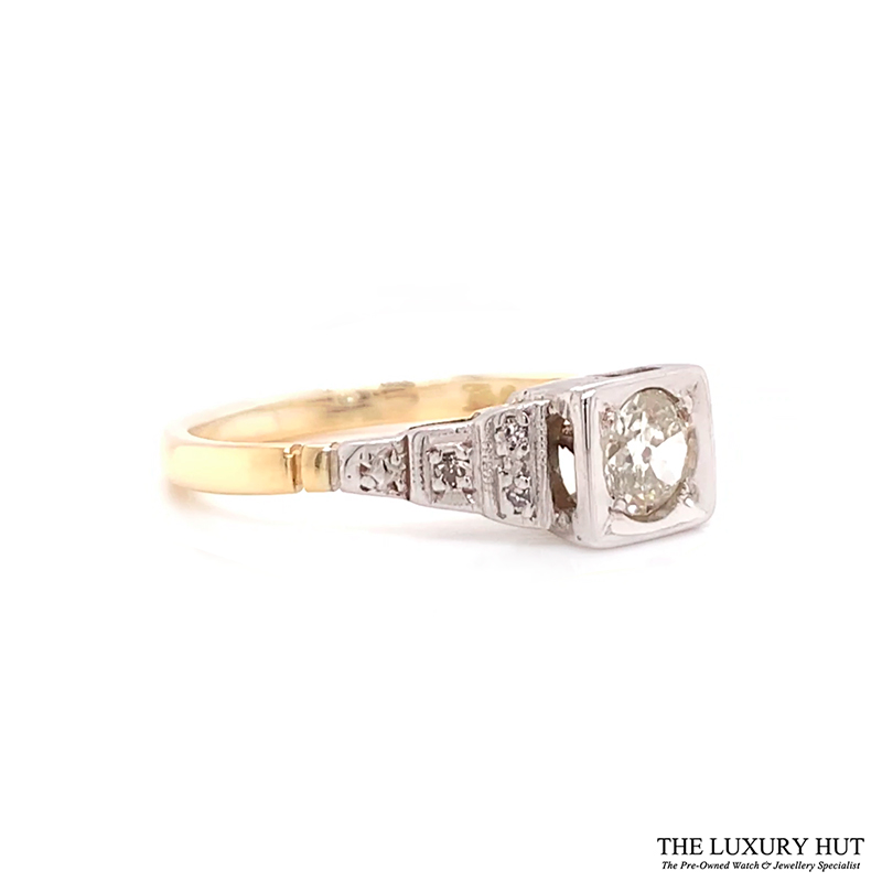Shop 18ct White & Yellow Gold 0.53ct Diamond Engagement Ring - Order Online