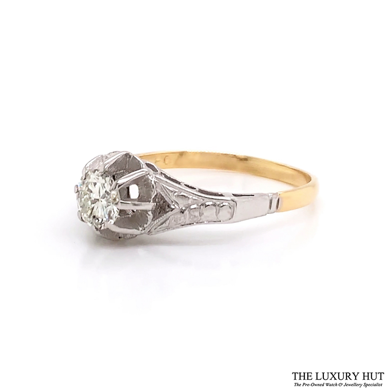 Shop 18ct White & Yellow Gold 0.57ct Diamond Ring - Order Online Today For Next Day Delivery - Sell