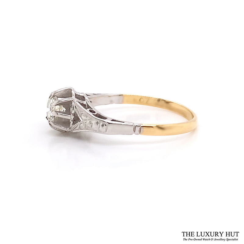 Shop 18ct White & Yellow Gold 0.57ct Diamond Ring - Order Online Today