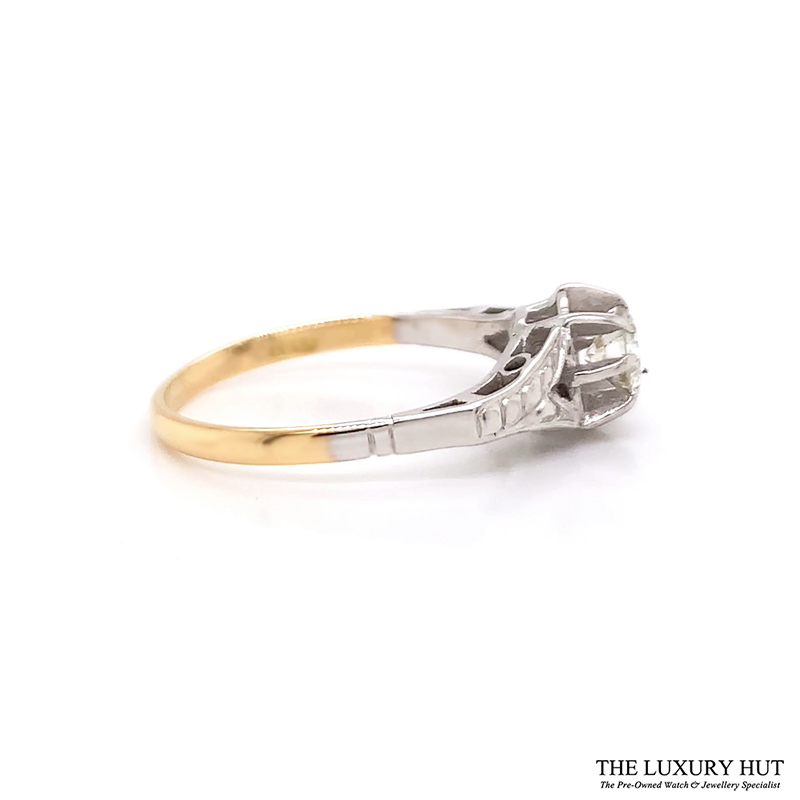 Shop 18ct White & Yellow Gold 0.57ct Diamond Ring - Order Online