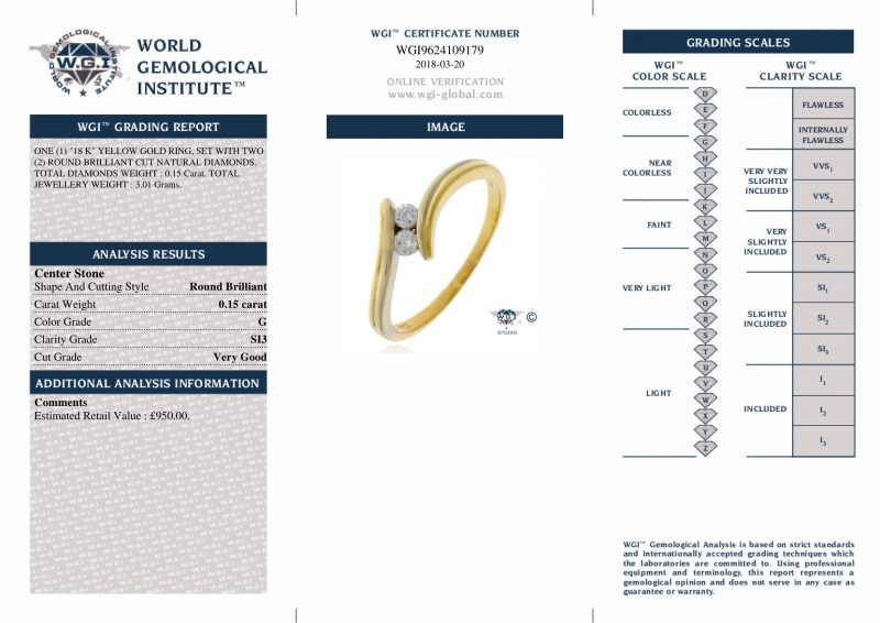 Shop 18ct Yellow Gold 0.15ct Diamond Engagement Ring - Order Online Today For Next Day Delivery