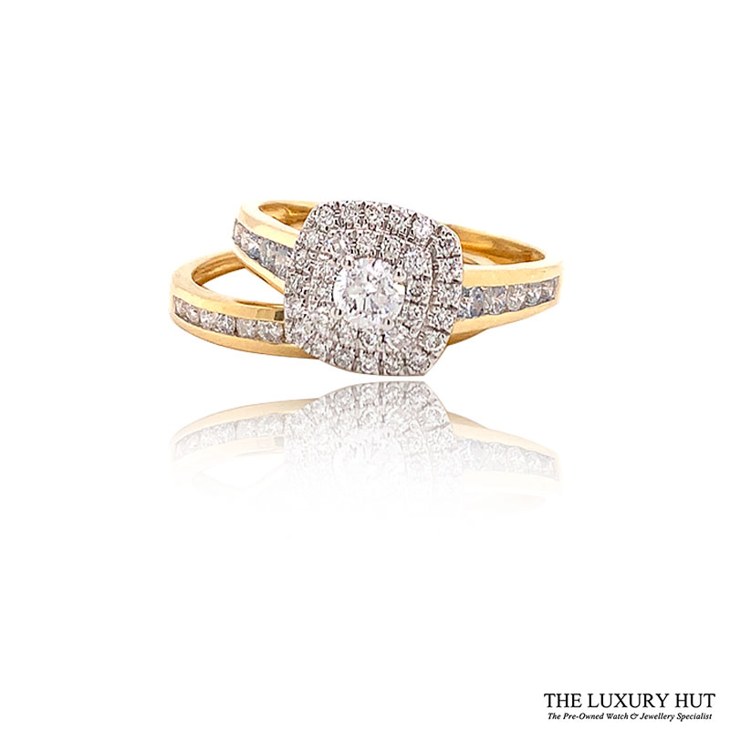 Shop 18ct Yellow Gold 1.00ct Diamond Ring Set - Order Online Today