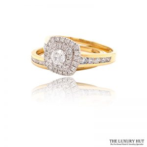 Shop 18ct Yellow Gold 1.00ct Diamond Ring Set - Order Online Today For Next Day Delivery - Sell Your Diamond Rings To The Luxury Hut
