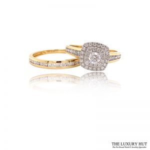 Shop 18ct Yellow Gold 1.00ct Diamond Ring Set - Order Online Today For Next Day Delivery - Sell Your Diamond Rings To The Luxury Hut Hatton Garden