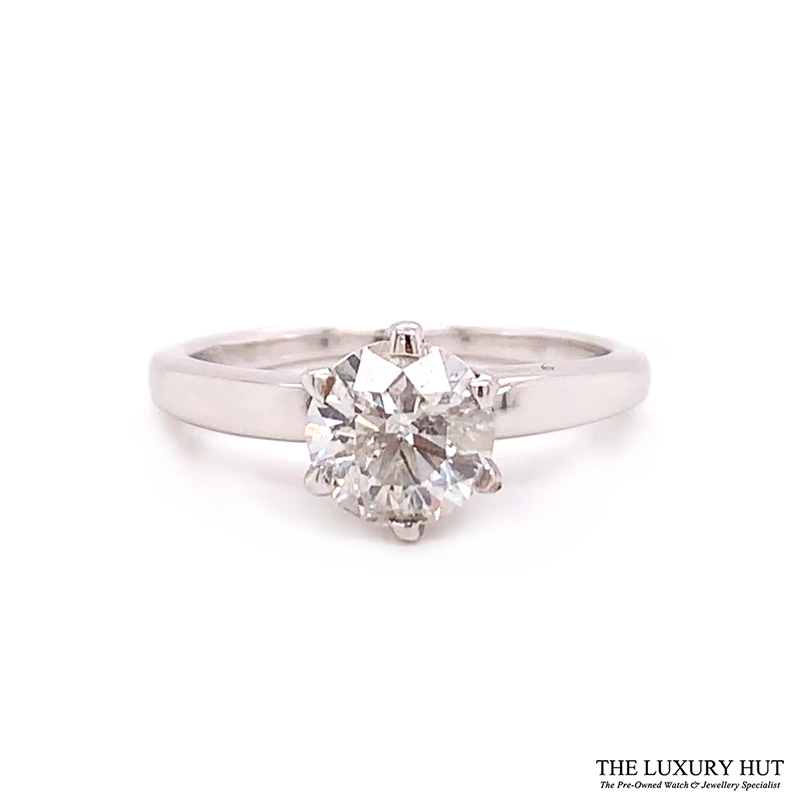 Shop 18ct White Gold & 1.00ct Diamond Engagement Ring - Order Online Today For Next Day Delivery - Sell Your Diamond Rings To The Luxury Hut Hatton Garden