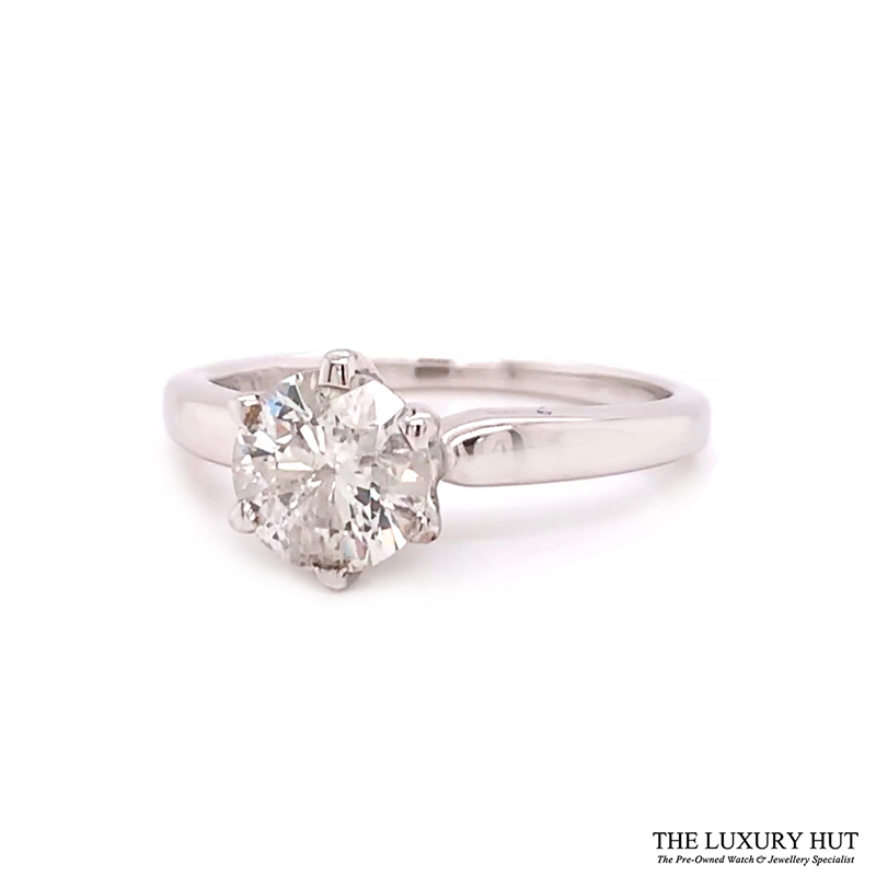 Shop 18ct White Gold & 1.00ct Diamond Engagement Ring - Order Online Today For Next Day Delivery - Sell Your Diamond Rings To The Luxury Hut