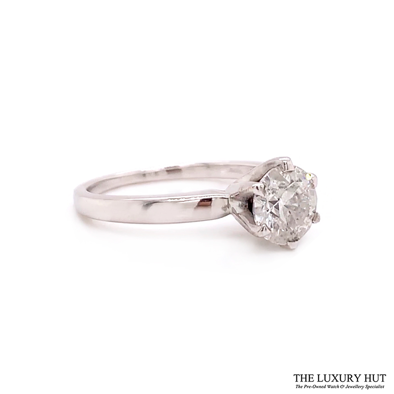 Shop 18ct White Gold & 1.00ct Diamond Engagement Ring - Order Online