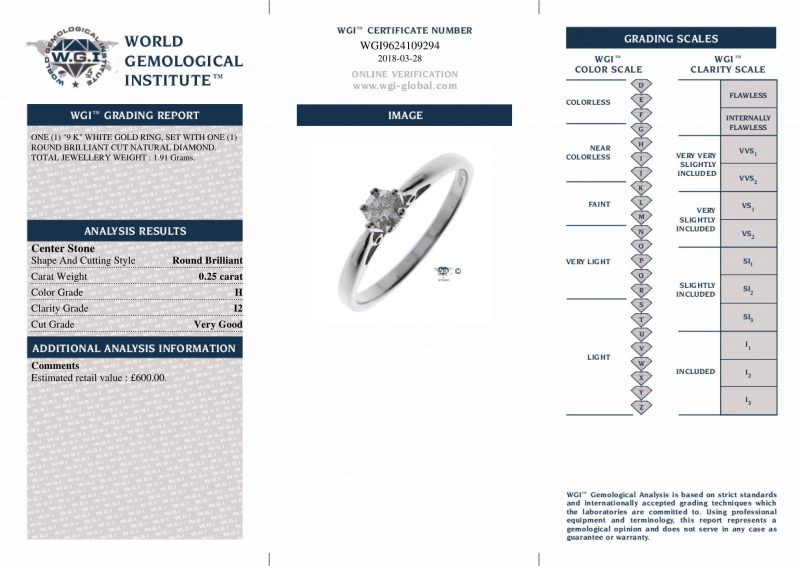 Shop 9ct White Gold & Diamond Engagement Ring - Order Online Today For Next Day Delivery