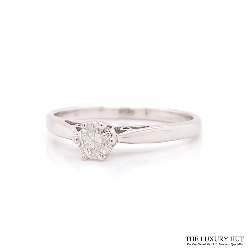 Shop 9ct White Gold & Diamond Engagement Ring - Order Online Today For Next Day Delivery - Sell Your Diamond Rings To The Luxury Hut